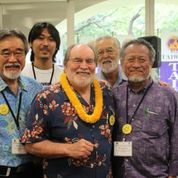 Hawaii Gov. Neil Abercrombie with John Tasato, Kenta Hanashiro, and Bob Nakasone.