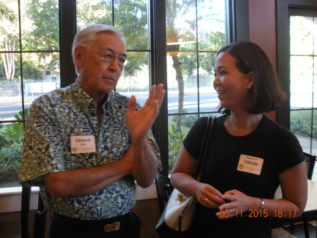 Ed Kuba with Senator Jill Tokuda