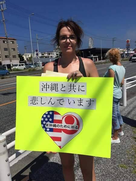 We are grieving with Okinawa.