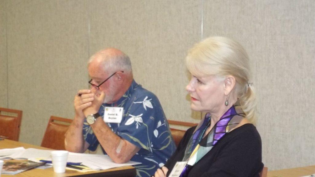 Moderator Dan Boylan and Karen, East-West Center's Director of External Affairs
